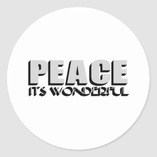 peace round sticker
