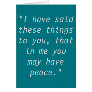 """""""Peace"""" Scripture Greeting Cards"""