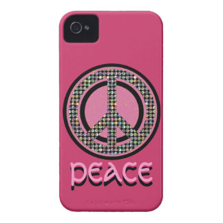PEACE SEQUINED PINK iPhone 4 Case-Mate Case