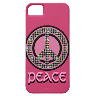 PEACE SEQUINED PINK iPhone 5 Case-Mate Case