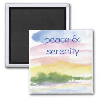peace &  serenity square magnet