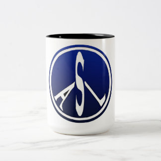 Peace-shaped ASL Coffee Mugs