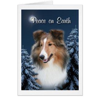 Peace Sheltie Card