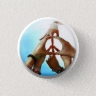 peace sign 3 cm round badge