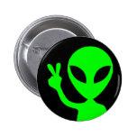 Peace Sign Alien Buttons