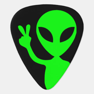Peace Sign Alien Plectrum
