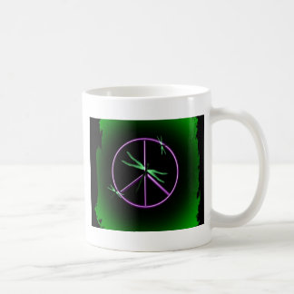 Peace Sign and Dragonfly Coffee Mugs