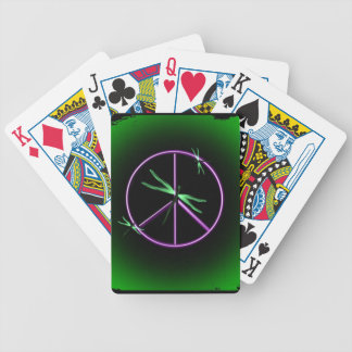 Peace Sign and Dragonfly Playing Cards