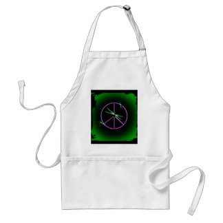 Peace Sign and Dragonfly Standard Apron