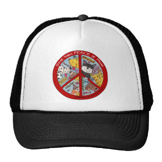 Peace Sign-Animal Protection Cap