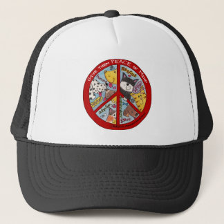 Peace Sign-Animal Protection Trucker Hat