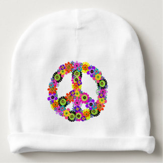 Peace Sign Baby Beanie
