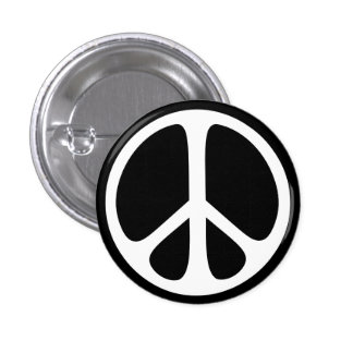 Peace Sign Ban the Bomb Sixties Pinback Button