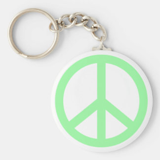 Peace Sign Basic Round Button Key Ring
