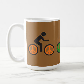 peace sign bicycle spokes coffee mug