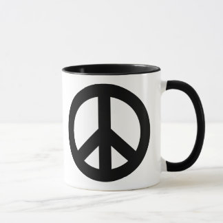 Peace Sign Black Mug