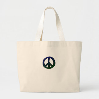 Peace Sign Blue and Green mini Bag
