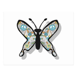 Peace Sign Butterfly Postcard