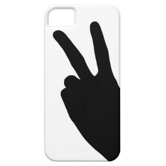 Peace Sign by Hand iPhone 5 Case