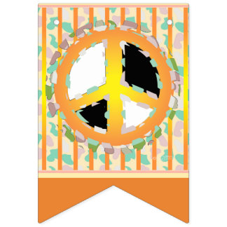 PEACE SIGN CARTOON BUNTING BANNER