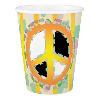 PEACE SIGN CARTOON  Paper Cup, 9 oz