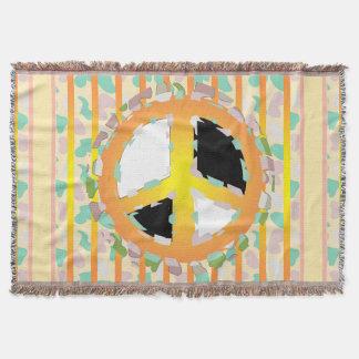 PEACE SIGN CARTOON Throw Blanket
