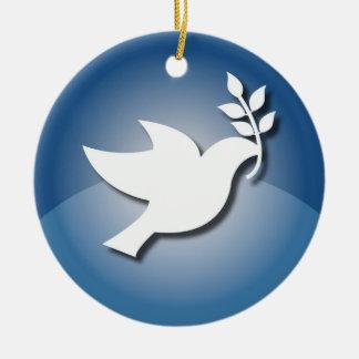 Peace Sign Christmas Ornament