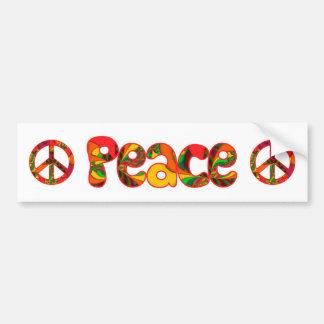 Peace Sign Color Me Bright #2 Bumper Sticker
