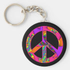 Peace Sign Colour Me Bright Keychain