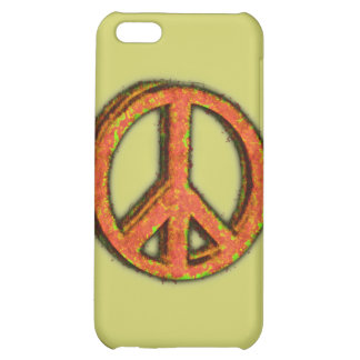 PEACE SIGN CORRODED COVER FOR iPhone 5C