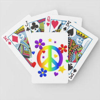 peace sign design bicycle playing cards
