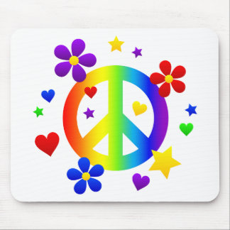 peace sign design mouse pad