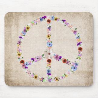 Peace Sign Design Mouse Pad