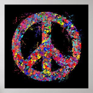 Peace Sign Art Wall Decor Zazzle Co Uk