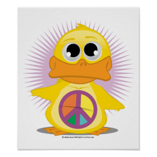 Peace Sign Duck Posters