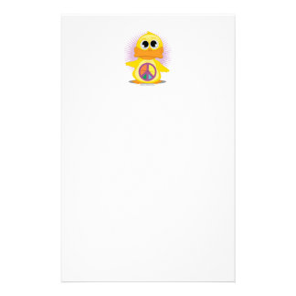 Peace Sign Duck Stationery