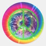 Peace Sign, Earth, and Tye Dye Sticker
