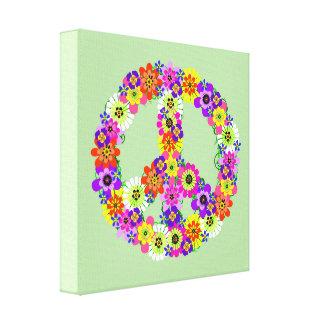 Peace Sign Floral Canvas Print