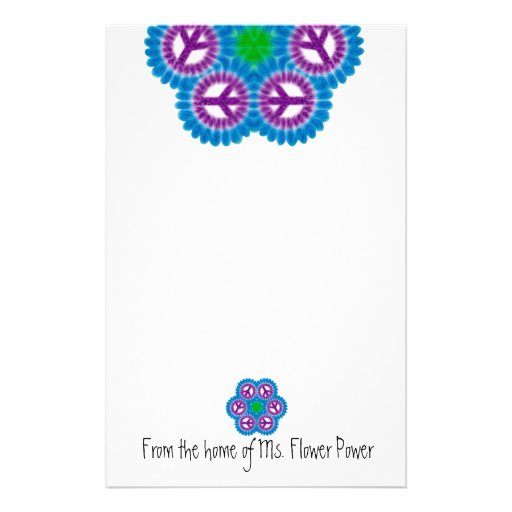 Peace Sign Flower Stationery