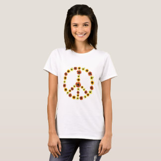 Peace Sign from Photos of Sunflowers Tee Shirts