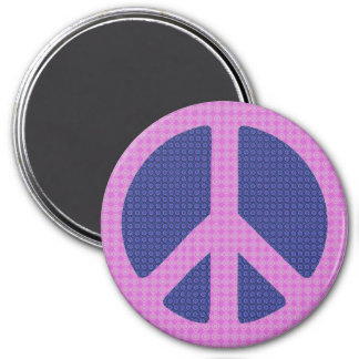 Peace Sign Groovy 7.5 Cm Round Magnet