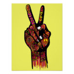 Peace Sign Hand Poster