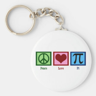 Peace Sign Heart Pi Symbol Key Ring