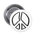 Peace Sign Hollow Button