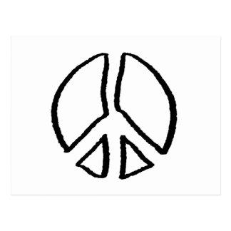 Peace Sign Hollow Postcard