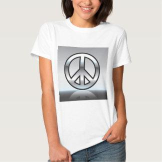 Peace sign illustration Metallic Tee Shirt