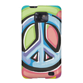 Peace Sign in Pastel Colors Samsung Galaxy SII Cases