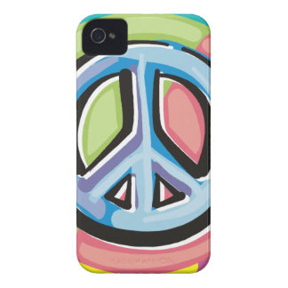 Peace Sign in Pastel Colors iPhone 4 Case-Mate Cases