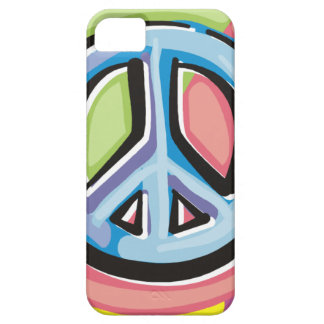 Peace Sign in Pastel Colors iPhone 5 Covers