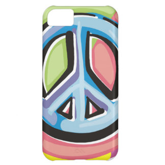 Peace Sign in Pastel Colors iPhone 5C Case